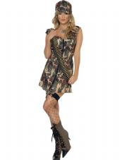 Forces Army Girl Dress Costume
